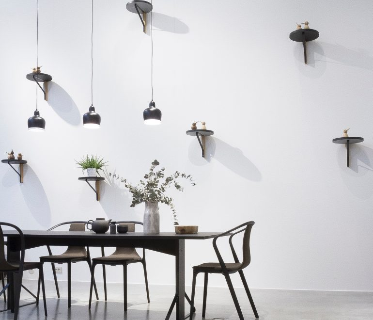 white wall with hanging decors